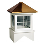 Windsor Series Windowed Cupola Is Square With A Hip Style Roof