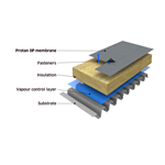 Protan BlueProof water attenuation system on steel substrate