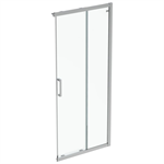 connect 2  unhand door 90 clear glass bright silver finish