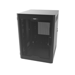 18RU, Swing-Out Wall-Mount Cabinet, Perforated Door