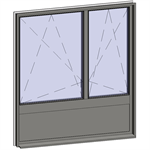 multi-paned windows - 3 compound zones