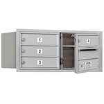 3700 Series Recessed Mounted 4C Horizontal Mailboxes - Front Loading - 3 Door High Units