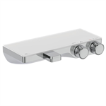 ceratherm s200 shelf bath and shower thermostatic exposed offset