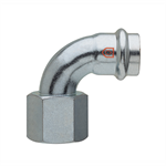 Elbow 90° F x Rp thread - C-Steel press fitting - V profile - FRABOPRESS C-STEEL SECURFRABO