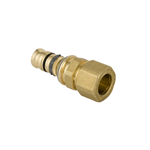 Geberit Mepla transition nipple with compression coupling