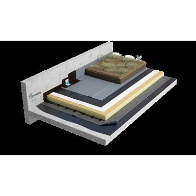 sopremium - toiture terrasse végétalisée sopranature sur béton