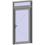 grand trafic doors - anti finger pinch version - single outward opening with transom
