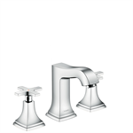 Metropol Classic 3-hole basin mixer 110 with cross handles and pop-up waste set 31306000