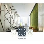 acoustic & esthetic prégymétal ceiling - createx verde - siniat