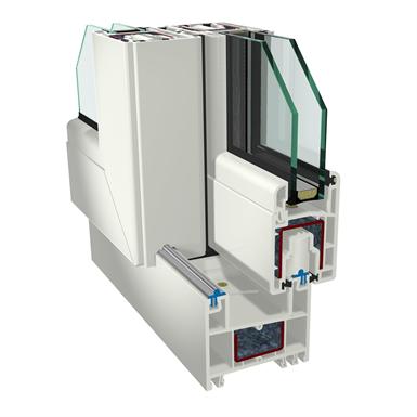 2-pane sliding window gealan s8000