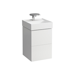 KARTELL BY LAUFEN Vanity unit for small washbasin, 2 drawers, incl. drawer organiser, matches small washbasin 815331