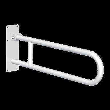 511516W Basic drop-down grab bar White stainless steel