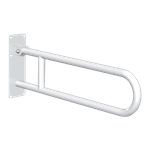 511516w basic drop-down grab bar white stainless steel