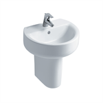 concept sphere 50cm washbasin, pedestal or furniture 1 taphole