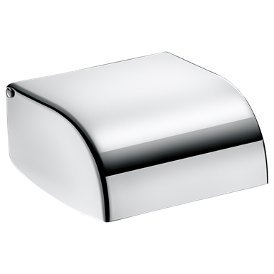 566 Toilet roll holder with spindle polished stainless steel