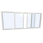Slidingdoor quad UPVC-ALU Internorm KS430 C