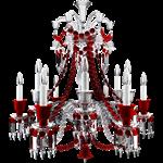 lustre zénith clair et rouge 12l