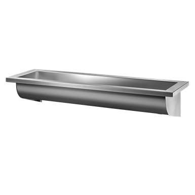 120250  Wall-mounted CANAL wash trough