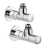 High-Style valve angled radiator and lockshield valve