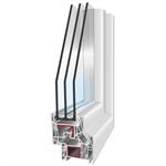 PVC301 - 1-leaf Tilt-And-Turn Window with horizontal sash bar and compact