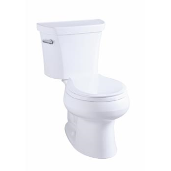 k-3997-rz wellworth® round-front 1.28 gpf toilet, right-hand trip lever, insuliner®, tank locks