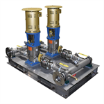 Duplex Vertical Multistage Booster Pump Package - RWP-2-DVM