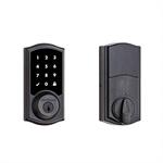Kwikset 99160-021 SmartCode 916 Traditional Smart Touchscreen Deadbolt Door Lock with SmartKey Security and Z-Wave Plus, Venetian Bronze
