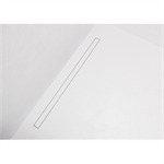 linear shower drain solution for thin flooring - modulo taf low