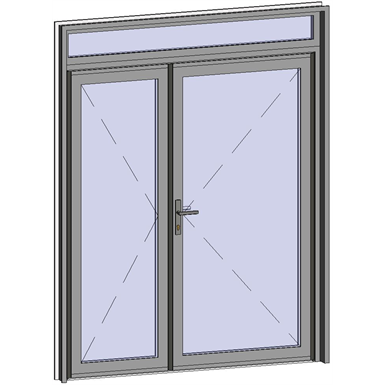 Grand Trafic Doors - Anti Finger Pinch version - Double outward opening with transom