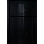 Shower Wall Black 80 cm