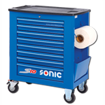 Empty trolley s10 8 drawers blue (RAL5005)