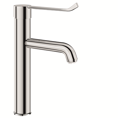 2565t1  mechanical basin mixer with high fixed spout