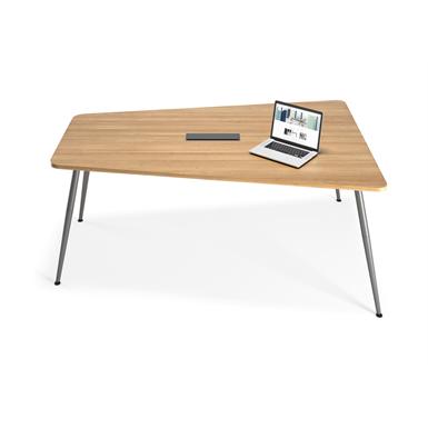 skinny - table de réunion trapèze