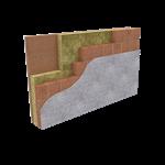 parete perimetrale ad intercapedine con laterizio faccia a vista (it)