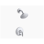 alteo® rite-temp® shower trim set with push-button diverter, valve not included