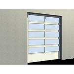 industrial glazed panel door 01 vertical lift