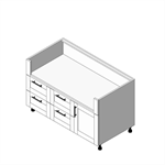 OGBX 3 Drawer Grill Base