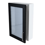 Bath 16-60 Wall Cabinet with Glass Door