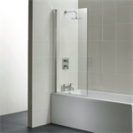 synergy angle shower bath screen, clear glass