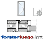 Door Forster fuego light EI60, single leaf