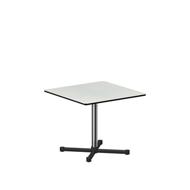 square table height adjustable, 900x900 mm