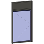 window with breathable leaf with transom