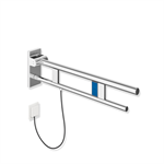 hinged support rail duo, design a with flushing mechanism