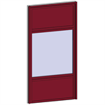 fixed window with 3 vertical zones