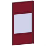 fixed window with 3 vertical zones