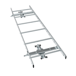 Roof ladder system for standing seam and seam roof profile (SRP25) roofs
