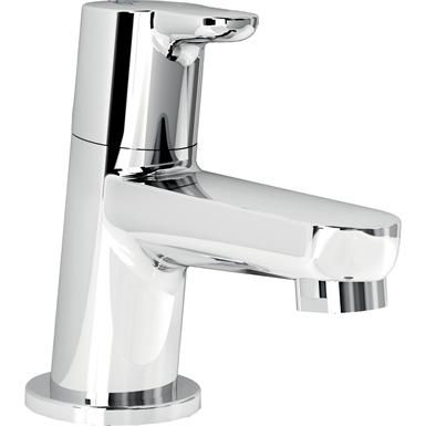 connect blue basin pillar tap chrome sngl g1/2