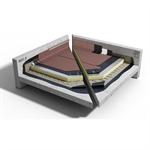Bitumineus waterdichtingssysteem op beton met PIR isolatie