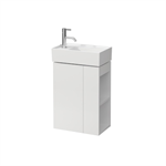 KARTELL BY LAUFEN Vanity unit, 1 door, left hinged, shelf right, open-sided, matches small washbasin 815335