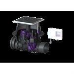 kessel-rückstaupumpanlage pumpfix f dn 200, komfort schaltgerät, schwarz